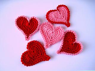 Ravelry crochet pattern asymmetrical heart applique pattern by