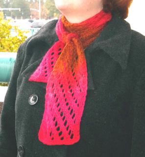 Ravelry Handspun Diagonal Lace Scarf Pattern By Doreen Hartzell
