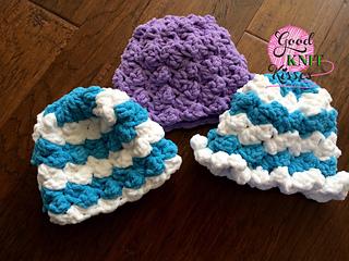 Ravelry Marshmallow Crochet Baby Hat Pattern By Kristen