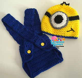 Ravelry  Minion Beanie and Diaper Cover pattern by Gramma Beans d2a6a07f9cb4