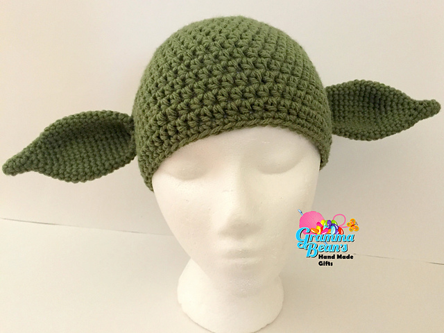 Ravelry Yoda Hat Pattern By Gramma Beans