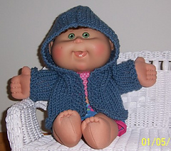 Ravelry hooded sweater for a cabbage patch doll pattern by janice helge janice helge dt1010fo