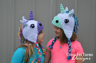fae1fe54305 Ravelry  Unicorn Hat pattern by Lisa M Fox