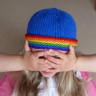 Blue_rainbow_brim_beanie_1_small2