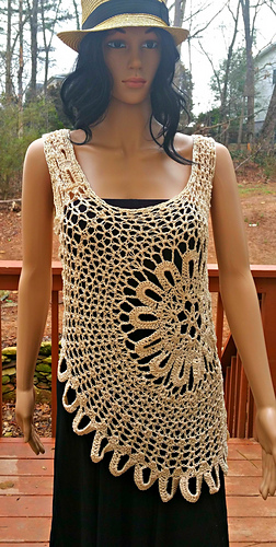 Ravelry Lace Tank Top Medlarge Pattern By Guchet