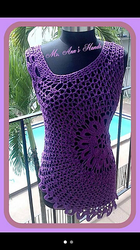 Ravelry Lace Tank Top Plus Size Pattern By Gu Chet