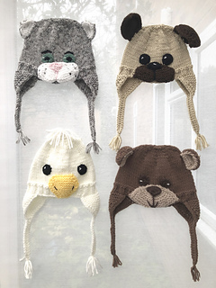 0d5ed4caffb8f Ravelry  Animal Earflap Hats pattern by Pat Alinejad