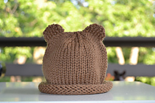 Knitting Pattern Baby Hat With Bear Ears : Ravelry: Baby bear hat pattern by Gilda Knits