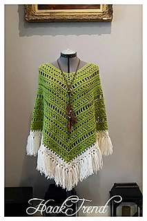 Ravelry Boho Poncho Pattern By Haaktrend By Fieke De Rooy