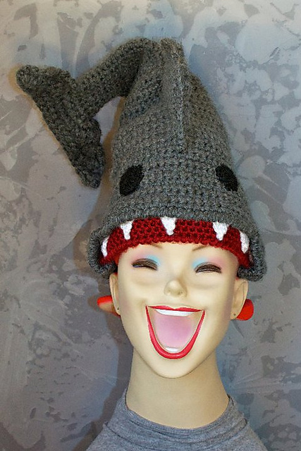 Ravelry Halos Of Hope Tm Crocheted Shark Hat Pattern By Monica Miles
