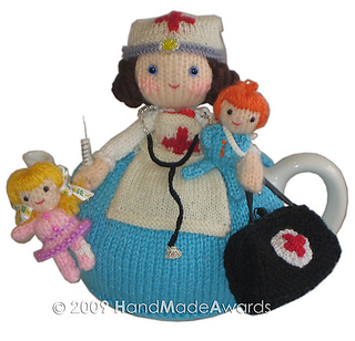 Ravelry: Maureen Nurse doll with children tea cosy Crochet pattern by Loly Fu...