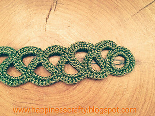 Free Crochet Ring Jewelry Patterns : Ravelry: Crochet Bracelet pattern by HappinessCrafty