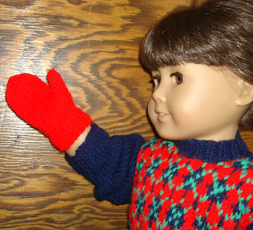 Ravelry 18 Inch American Girl Doll Mittens Pattern By Hazel Rose