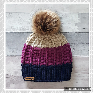 ed0c899cfaf Ravelry  The Harris Beanie (puff stitch) pattern by Heaven Hooked Crochet