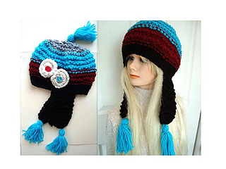 007277a1479 Ravelry  590 KNITTED EARFLAP HAT