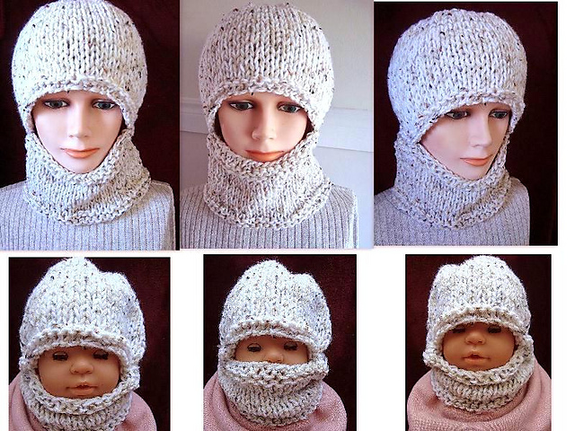 Ravelry 597 Knitted Balaclava Baby To Adult Pattern By Emi Harrington