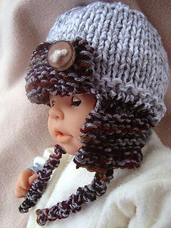 21e7188e9 633 KNIT Aviator Hat, Baby to Adult, Unisex pattern by Emi Harrington