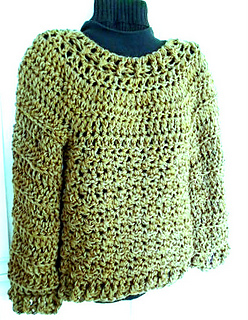 196e0a536c0a Ravelry  866-XS-S Chunky Oversized Pullover Sweater pattern by Emi ...