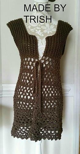 Ravelry 813 Long Or Short Vest Pattern By Emi Harrington