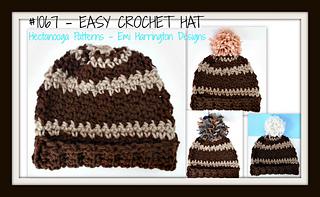 23998ccf924 patterns   Emi Harrington s Ravelry Store.   1067-EASY Unisex Crochet hat