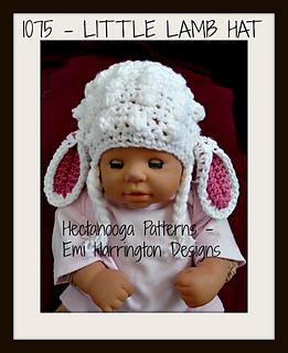 Ravelry  1075-BABY LAMB HAT pattern by Emi Harrington 2537e926fe5