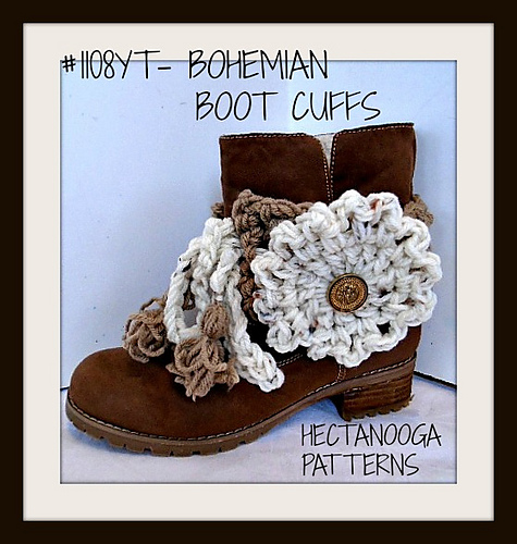 Ravelry 1108yt Bohemian Boot Cuffs Pattern By Emi Harrington