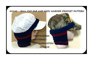 patterns   Emi Harrington s Ravelry Store.   2142 - BALL CAP EAR WARMER -NECKWARMER 4179112e0b9