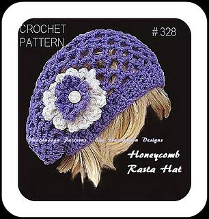 Ravelry 328 Honeycomb Rasta Hat Pattern By Emi Harrington