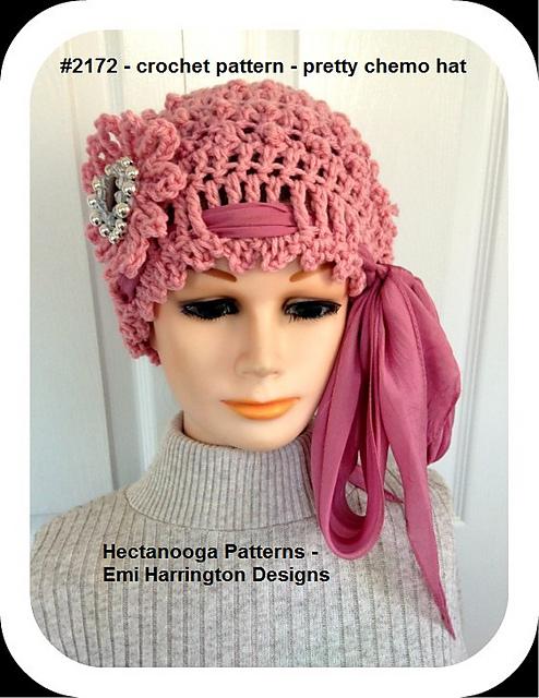 Ravelry 2172 Pretty Chemo Hat Pattern By Emi Harrington