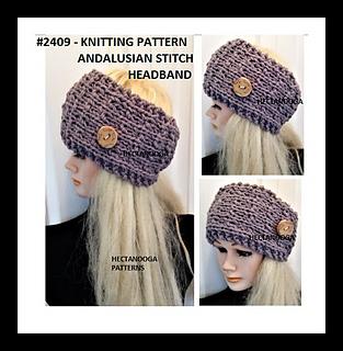 8160c8596 Ravelry  2409-ANDALUSIAN headband-earwarmer pattern by Emi Harrington