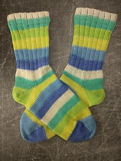 Ravelry Csm Toe Up Sock With Mock Rib Leg Pattern By Heddi Craft