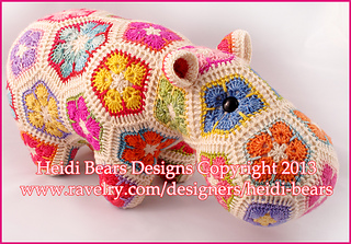 Ravelry Happypotamus The Happy Hippo Pattern By Heidi Bears