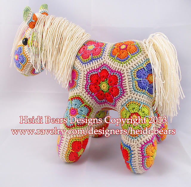 Ravelry Fatty Lumpkin The Brave African Flower Pony Crochet Pattern