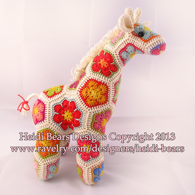 Ravelry Jedi The Curious Giraffe African Flower Crochet Pattern