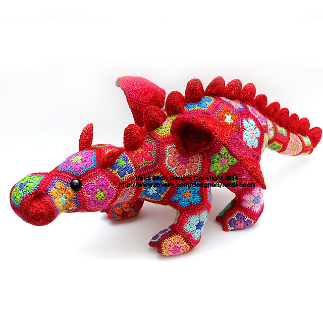 Ravelry Smaug The African Flower Dragon Pattern By Heidi Bears