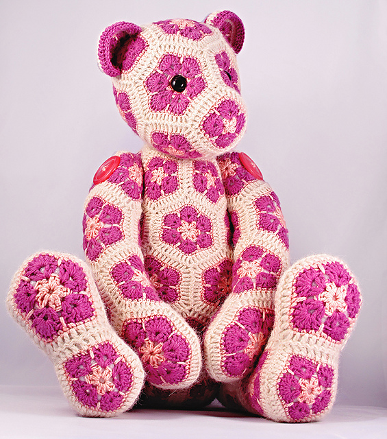 Ravelry Lollo The African Flower Bear Pattern By Heidi Bears Awesome