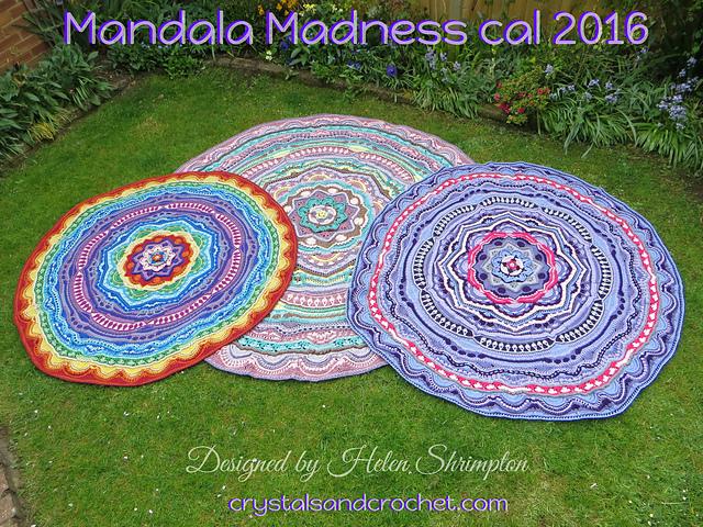 gestrickte teppiche im Mandalastil
