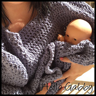ravelry wearable receiving blanket adult pattern by hello gabby. Black Bedroom Furniture Sets. Home Design Ideas