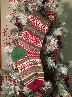 ravelry let it snow fair isle christmas stocking pattern by joan sheridan