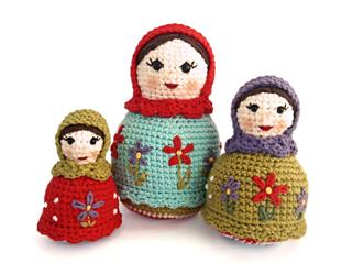 Ravelry The Matryoshka Sisters Russian Nesting Dolls Pattern By Ida Herter