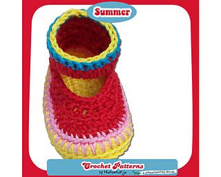 Ravelry Baby Booties Summer Pattern By Hiepermiepje Van Flobberdewotsky