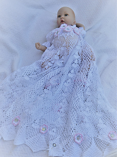 f7b1d1fd730e Ravelry: heirloom vintage christening dress pattern by Halina Matson