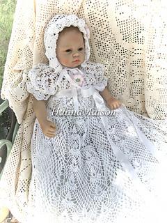 efa1c79d6fb2 heirloom vintage christening dress pattern by Halina Matson - Ravelry