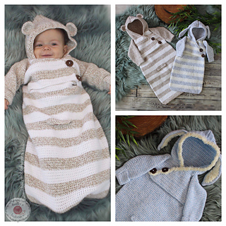 Ravelry Baby Bunting Sack Pattern By Hollys Hobbies