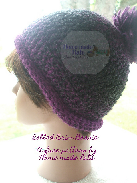 patterns   Home made hats by Cheryl.   Rolled Brim Beanie e247a9ce0a5