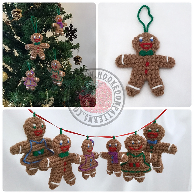 ravelry gingerbread family christmas tree decorations pattern by ling ryan - Gingerbread Christmas Tree Decorations