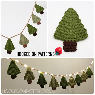 Mini Christmas Tree Garland Pattern By Ling Ryan