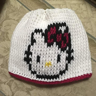 Ravelry Hello Kitty Hat Pattern By Brenda Smith