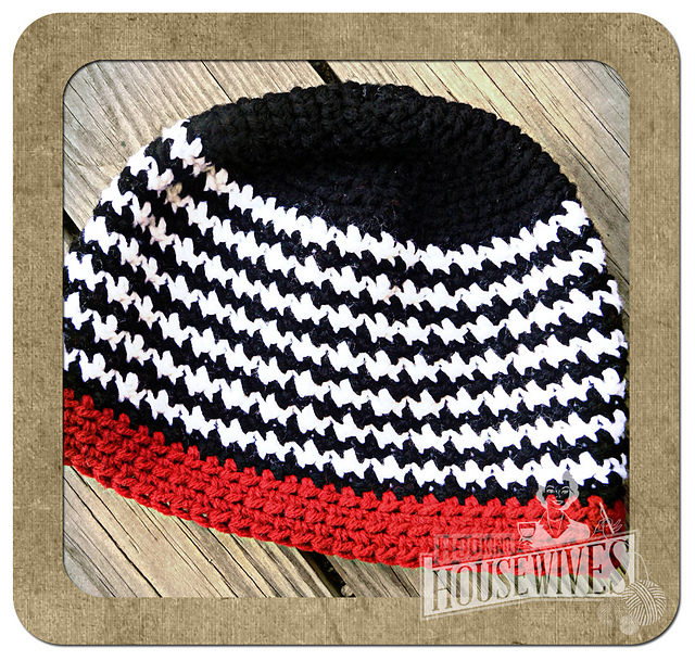 Ravelry Houndstooth Hat Pattern By Hooking Housewives