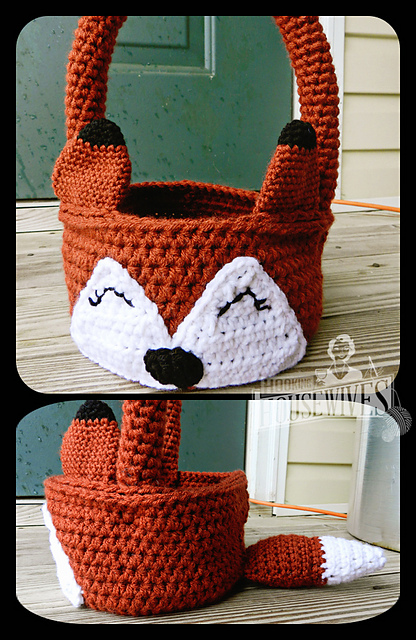 Ravelry The Fox Says Easter Basket Pattern By Hooking Housewives